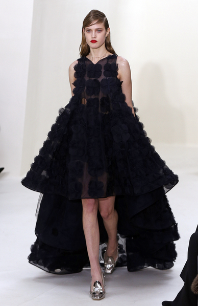 迪奧(Dior)2014年春夏高級定制秀,2014年1月20日於法國巴黎。(should read FRANCOIS GUILLOT/AFP/Getty Images)