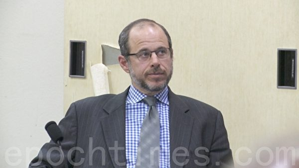 舊金山交通局局長埃德`里斯金(Ed Reiskin)2月4日在會議現場。(陳志宇/大紀元)