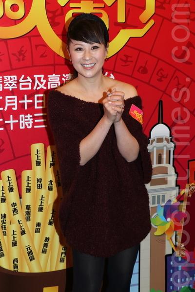 江欣燕出席新節目記者會。(蔡雯文/大紀元)