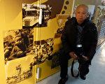 台北市立儿童育乐中心举办80周年老照片展,78岁的李德星(图)提供父亲李钓纶当年为他拍下的多张黑白老照片,和民众一同回味童年时光。 (中央社)