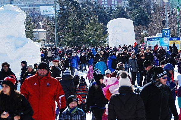北美最大冰雪節 冰雕藝人展才華 華人慶新年