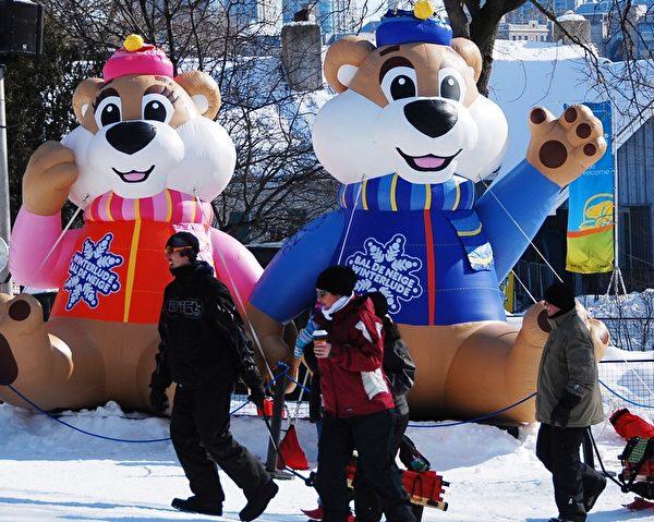 加拿大首都渥太華第36届冰雪节(Winterlude)于1月30日开幕,这个自1979年开始的北美最大的冬季节日,每年吸引近60万游客,其中1/3来自渥太华以外地区。(任喬生/大紀元)