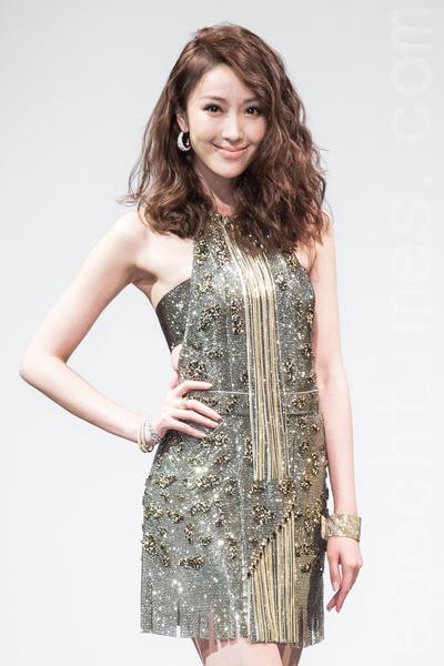 藝人隋棠2月13日出席新品發表會,對於西洋情人節的到來,她笑說:「希望明年情人節也有另一半出現,一起放閃。」(陳柏州/大紀元)