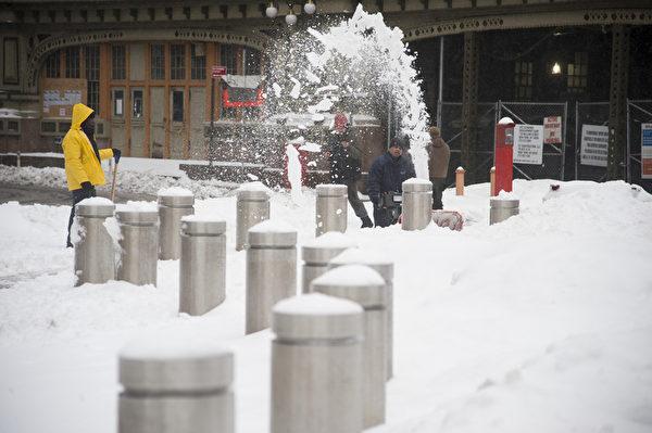 纽约经历今年最大雪 (戴兵/大纪元)