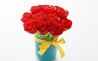 情人节特别 3D 打印的玫瑰。(网站提供)