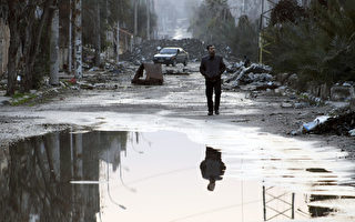 敘利亞問題日內瓦第二輪會談14日失敗,3年內戰已造成14萬人死亡,許多商業區如今幾乎成了死城。(AFP)
