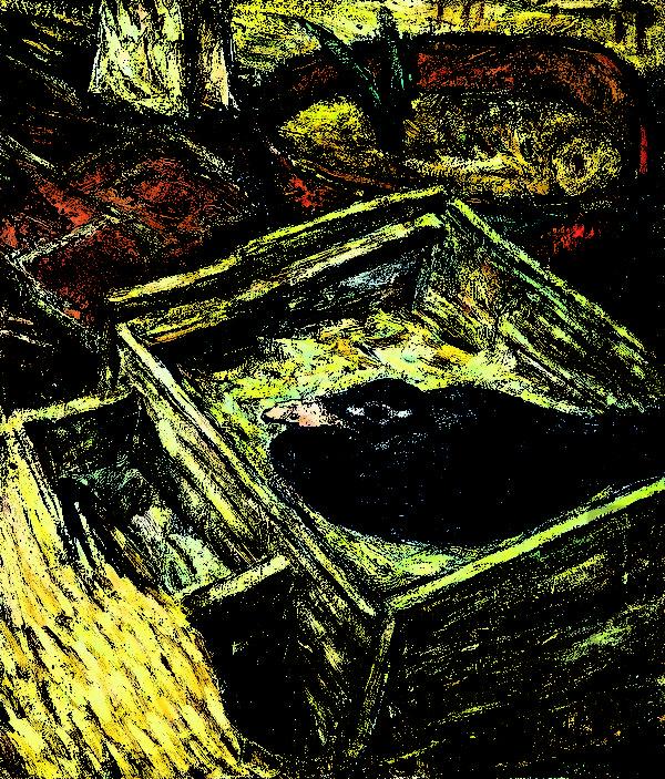 林国治1958年的创作《农村所见》。(玉明油画室提供)