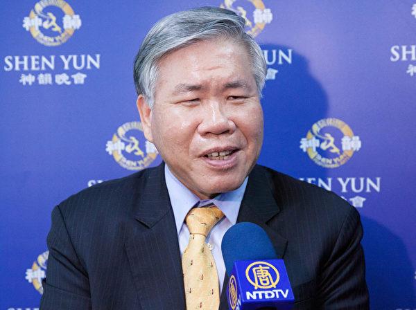 新寿公寓大厦管理维护股份有限公司董事长潘柏铮。(白川/大纪元)