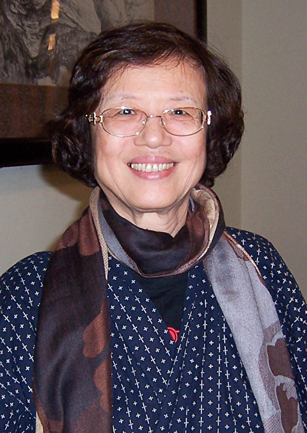瀚邦国际慈善基金会董事长曾黄丽明2月26日观赏神韵国际艺术团在台北国父纪念馆的演出。(冯长乐/大纪元)