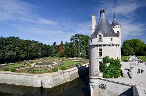 雪侬梭城堡内的花园。(Fotolia.com)