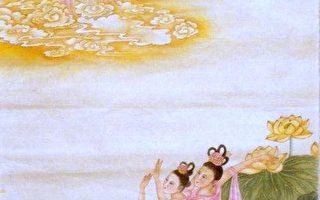 中華傳統畫家章翠英畫作 - 詠蓮。(作者提供)