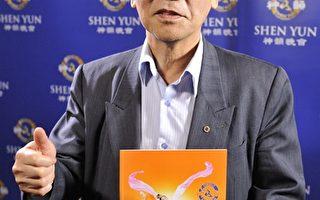高雄市美术协会理事长龚天发。(罗瑞勋/大纪元)