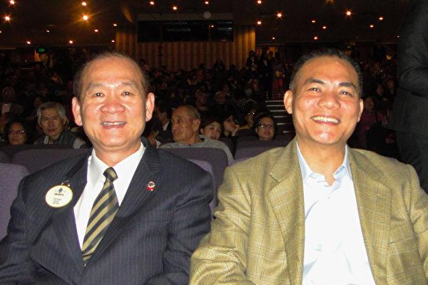 国际狮子会总监戴钉坤(左) ,公关长蔡志宏(右)(李芳如/大纪元)