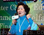 陳方安生在香港教育學院座談會上,質疑一黨專政能長久否,並首次透露當年離職原因。(潘在殊/大紀元)