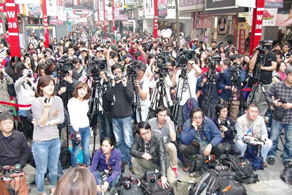 2014年3月16日,《麻辣教师GTO台湾篇》台北宣传现场。(黄宗茂/大纪元)