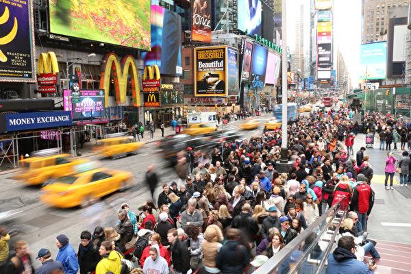 纽约市时代广场。(安澜/大纪元)