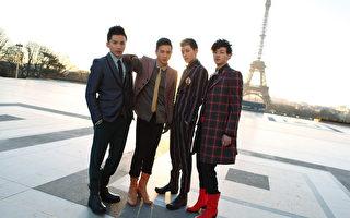 LOLLIPOP@F四人在巴黎铁塔前。(种子音乐提供)