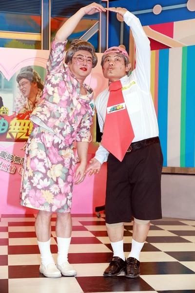 陽婆婆與福州伯二人上演恩愛戲碼。(福斯國際電視網提供)