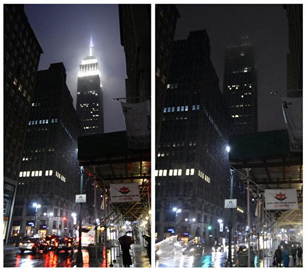 全球150個國家約7,000座城市,29日響應「地球一小時」(Earth Hour)熄燈活動。圖為美國紐約帝國大廈。(Timothy A. CLARY/AFP)