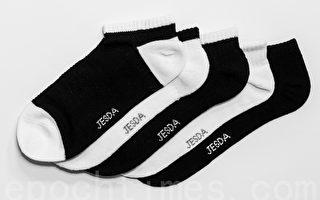 甲壳素抗菌船型袜。(陈柏州/大纪元)