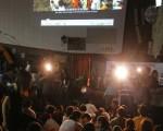 导演魏德圣授权请反服贸学运学生团体3月31日看电影《KANO》。(中央社)