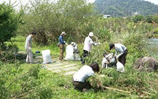 一群人在烈日下辛勤工作。(雪霸國家公園管理處提供)