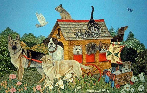 《DOGS DAY OUT》 (切尔西新艺术博览会提供)