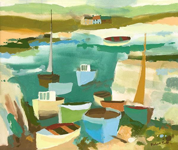 《COVERACK FISHING BOATS》(切尔西新艺术博览会提供)