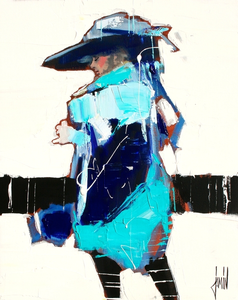《LA DAME EN BLEU》 (切尔西新艺术博览会提供)