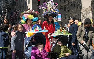 復活節遊行 盛裝帽子添彩