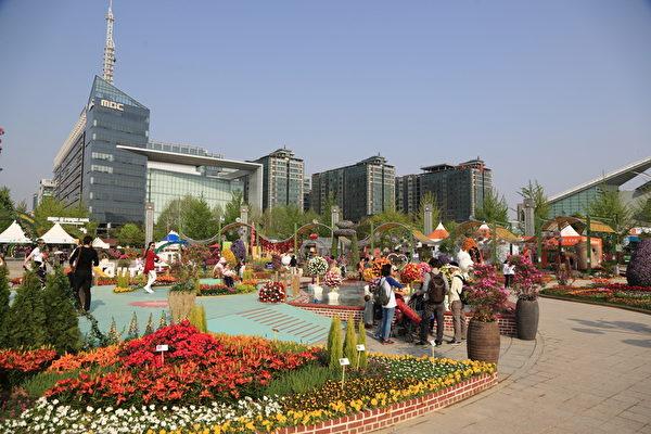 2014年4月25日,韩国京畿道高阳市国际花卉博览会拉开序幕。(全宇/大纪元)
