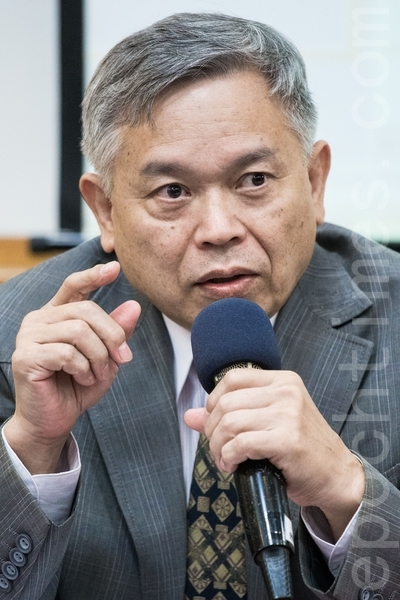 台湾法轮大法学会理事长张清溪。(陈柏州 /大纪元)