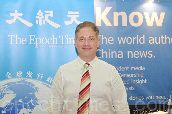 Remax聯席董事夏樂迅(Harlow Garfield Russell)表示做中國市場要找大紀元時報合作 (孫明國/大紀元)