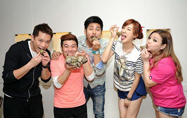 劇中新生代演員,左起:韓宜邦、馬國畢、楊子儀、陳怡嘉、小甜甜。(台視提供)
