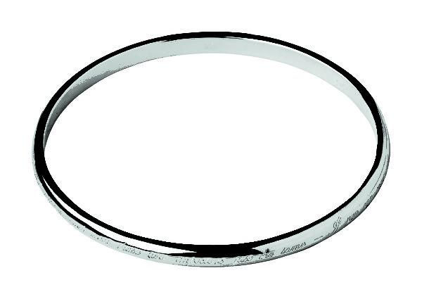 2014LINKS温网系列 刻有温网运动精神的纯银手镯。 (LINKS提供)