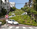 """旧金山著名的景点""""九曲花街""""。(周凤临/大纪元)"""