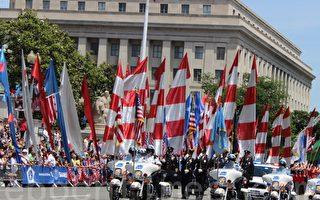 美首都華盛頓DC陣亡將士紀念日大遊行。(攝影:何伊/大紀元)