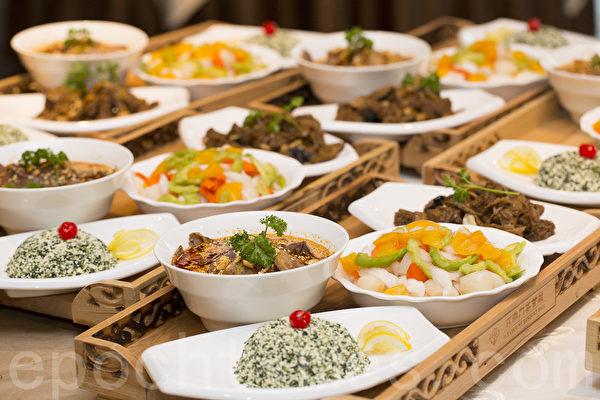 """2014""""原汁原味""""中国菜多伦多厨技大赛颁奖晚宴提供的菜肴之一。(艾文/大纪元)"""