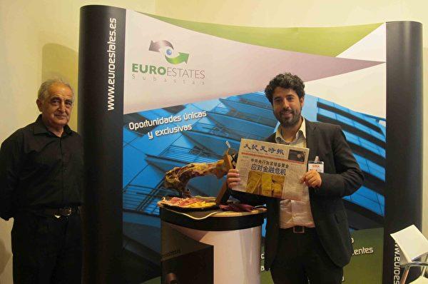 Euroestates房产公司的合伙人Javier Lianes先生说独立媒体的信息对于一个商人来说是最重要的,并赞叹大纪元作为独立媒体的勇气及能聚集居多华人高消费读者群。(萧然/大纪元)