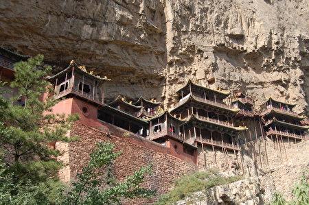 山西恒山的北魏悬空寺是中华古代文明的奇迹之一。(图片来源:Fotolia)