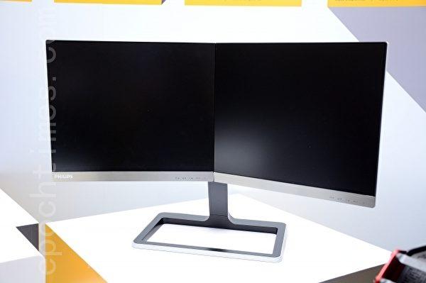 飞利浦二合一设计显示器。(方惠萱/大纪元)