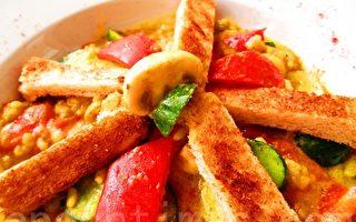 绿咖喱彩蔬饭(摄影:家和/大纪元)
