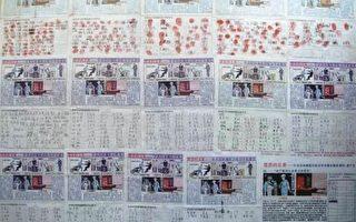 中國大陸民眾正在用簽名的方式,強烈譴責中共活體強摘法輪功學員器官牟取暴利的罪行。圖為唐山地區近4700人的簽名。(明慧網)