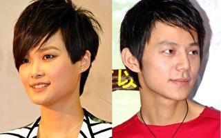 何炅(右)与李宇春儿时的作文近日于网络曝光,获得很高评价。(大纪元合成图)