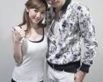 林乐伟(右)拍新歌《你好吗》MV。(动脉音乐提供)