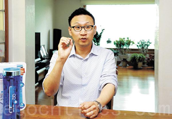 BlueQQ代表李锺勋。(全宇/大纪元)