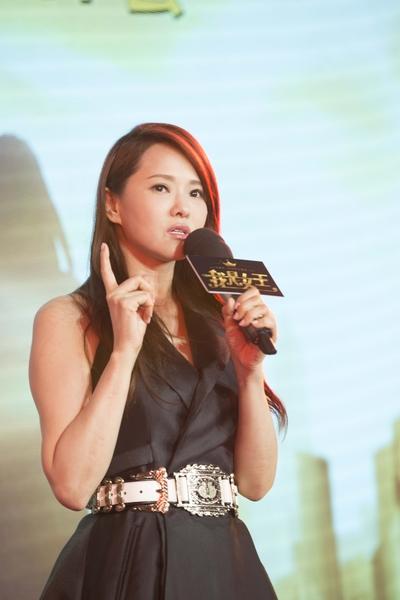 由伊能靜編導演的大銀幕處女作《我是女王》於6月16日在上海舉行全球首次發佈會。(M.I.E提供)