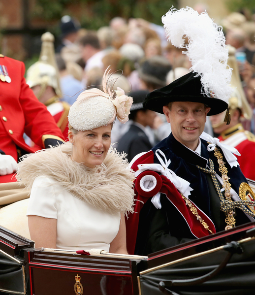 2014年6月16日,愛德華王子與夫人蘇菲。(Toby Melville - WPA Pool /Getty Images)