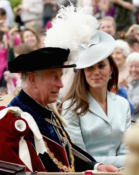 2014年6月16日,查爾斯王子與凱特王妃。(Toby Melville - WPA Pool /Getty Images)