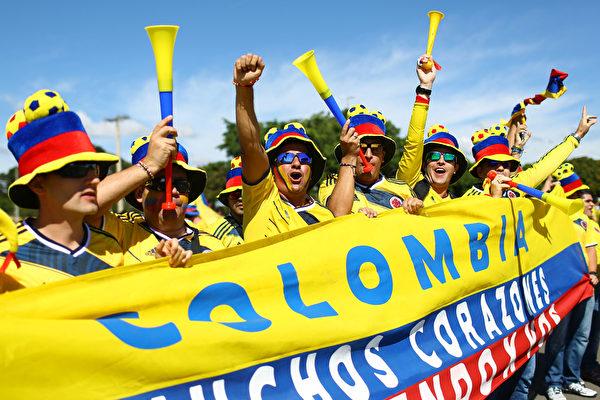 想儅哥倫比亞總統嗎?佩克爾曼你得帶哥倫比亞隊在巴西再贏幾場。(Celso Junior/Getty Images)